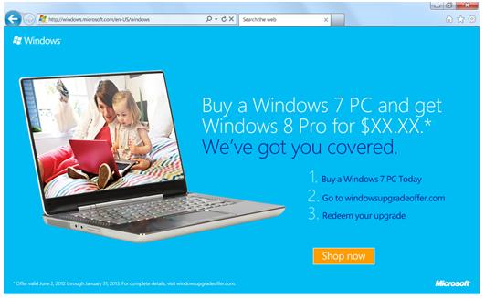 Windows 8 升級-微軟正式宣布 Windows 8 升級計劃