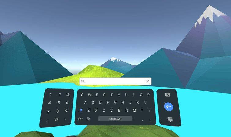 Google VR 虛擬鍵盤:Google 出了個鍵盤應用,給 VR 用的